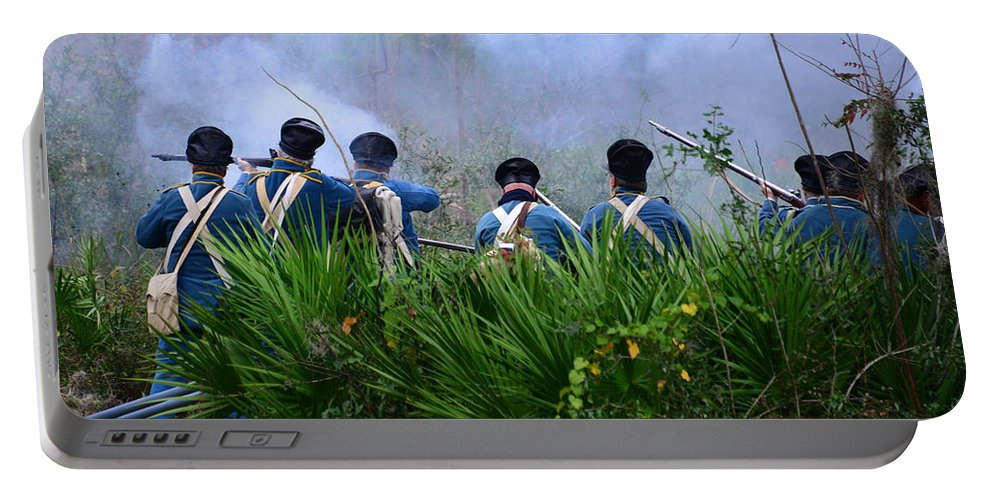 United States Army 1830s Portable Battery Charger featuring the photograph In The Thick Of It by David Lee Thompson