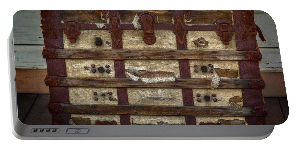 Hdr Portable Battery Charger featuring the photograph In This Old Chest by David Millenheft