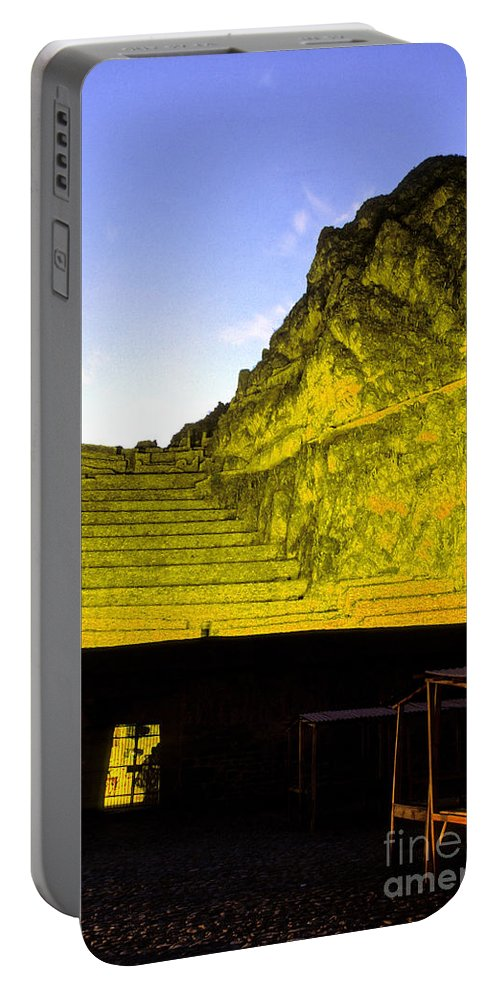 Inca Portable Battery Charger featuring the photograph Incan Ruins Sacred Valley Peru by Ryan Fox