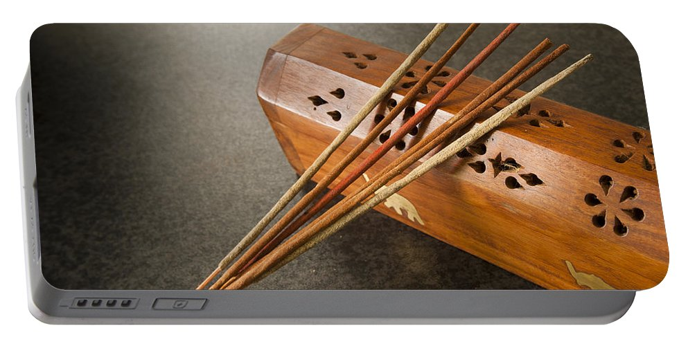 Accessories Portable Battery Charger featuring the photograph Incense Sticks by Tim Hester