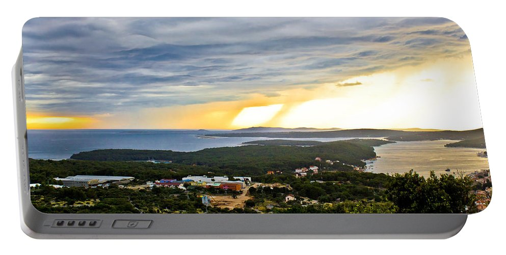 Croatia Portable Battery Charger featuring the photograph Incoming Storm Over Losinj Island by Brch Photography
