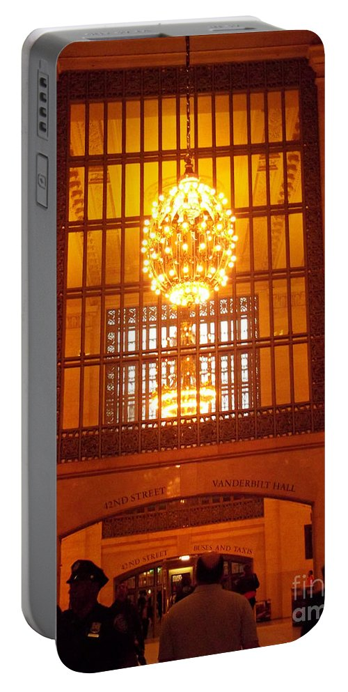 Grand Central Portable Battery Charger featuring the photograph Incredible Art Nouveau Antique Grand Central Station - New York by Miriam Danar