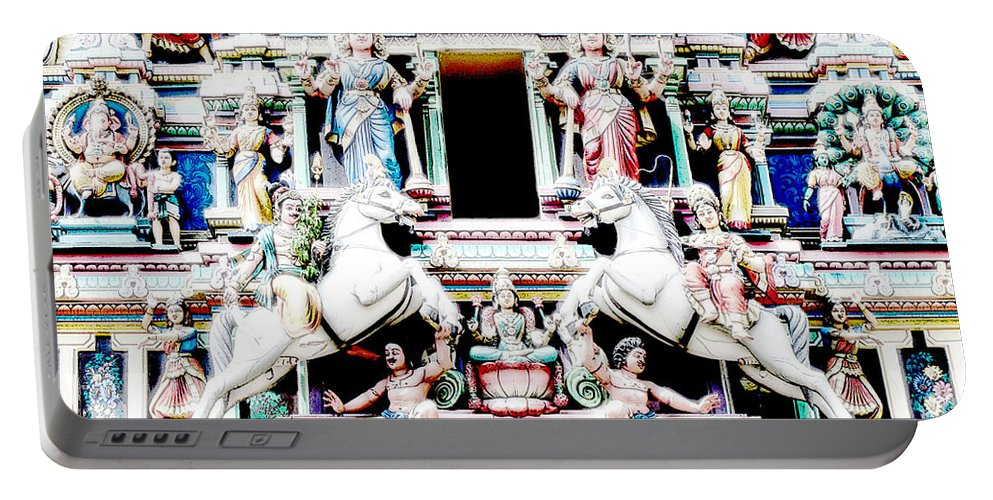 Religion Portable Battery Charger featuring the photograph India Religion by Lyriel Lyra