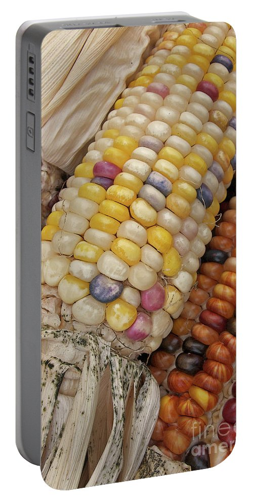 Indian Corn Portable Battery Charger featuring the photograph Indian Corn by Ann Horn