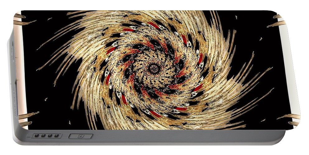American Indian Portable Battery Charger featuring the digital art Indian Dance by Michael Damiani