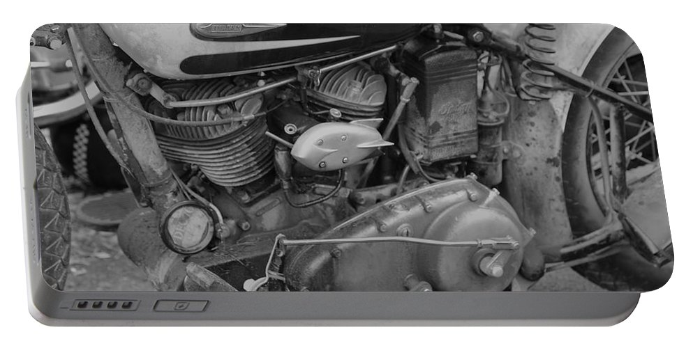 Indian Motorbike Portable Battery Charger featuring the photograph Indian Engine by Robert Phelan