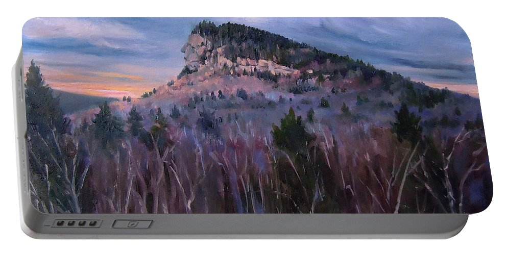 Indian Head Portable Battery Charger featuring the painting Indian Head In Lincoln New Hampshire by Nancy Griswold