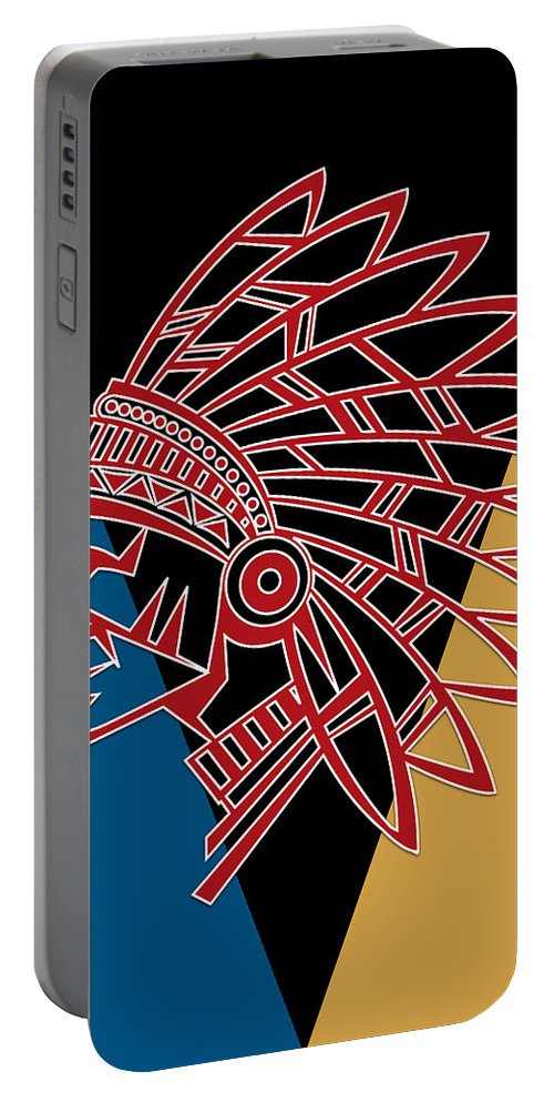 Chief Portable Battery Charger featuring the photograph Indian Head Series 01 by Carlos Diaz