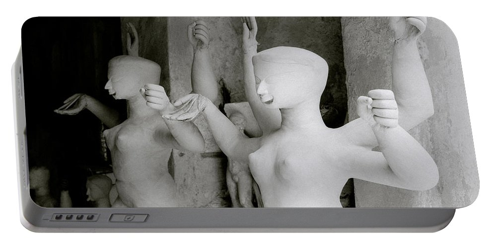 Woman Portable Battery Charger featuring the photograph Indian Sculpture by Shaun Higson