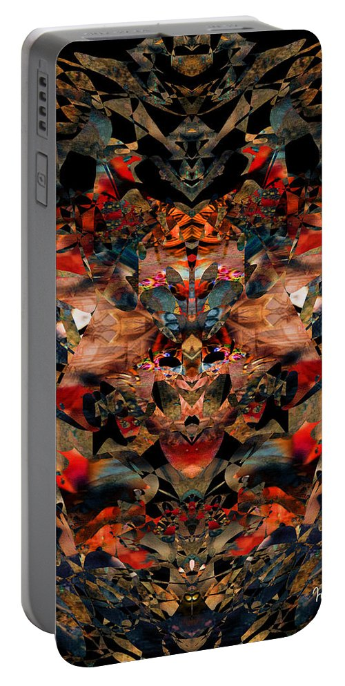 Colorful Portable Battery Charger featuring the digital art Indisputable by Mike Butler