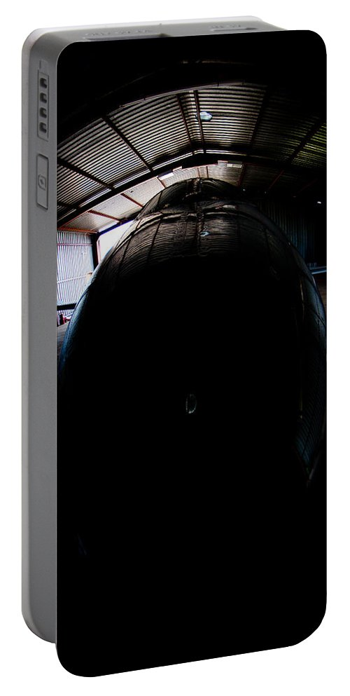 Embraer Phenom 100 Portable Battery Charger featuring the photograph Indoors by Paul Job