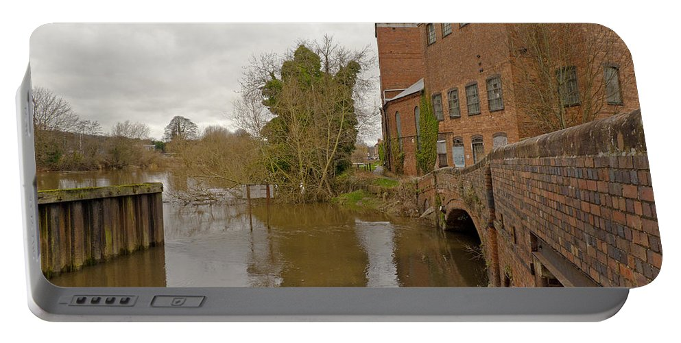 River Severn Portable Battery Charger featuring the photograph Industrial Architecture by Tony Murtagh