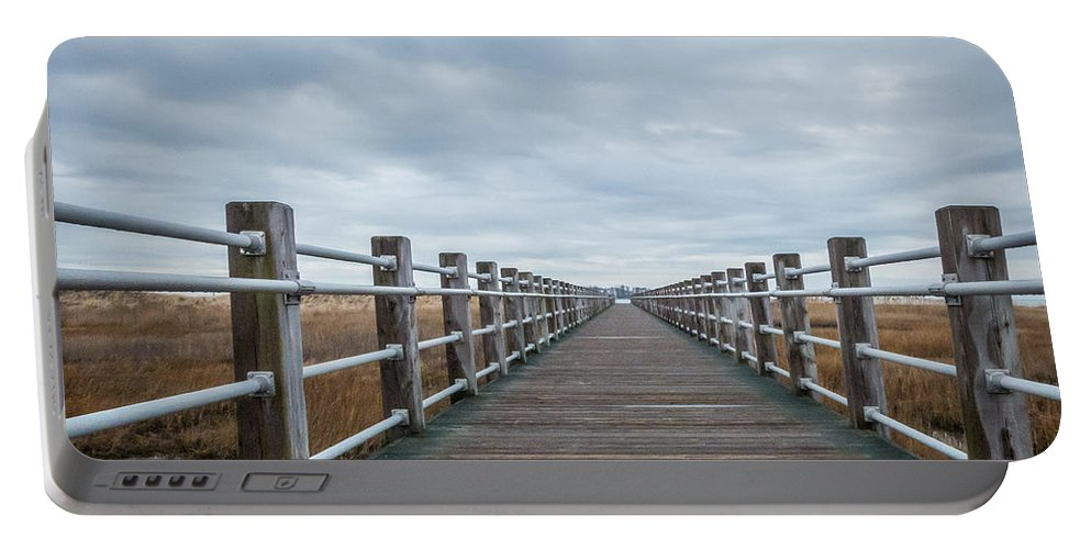 New England Portable Battery Charger featuring the photograph Infinite Boardwalk by DAC Photo