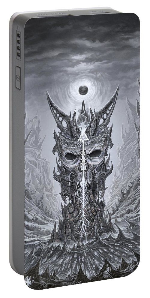 Tower Portable Battery Charger featuring the painting Infinite Death by Mark Cooper