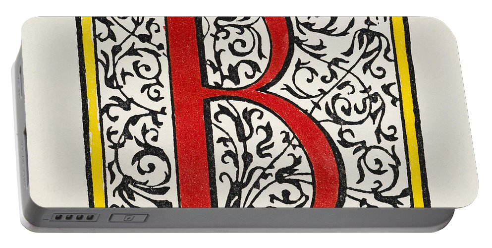 1600 Portable Battery Charger featuring the painting Initial 'b', C1600 by Granger