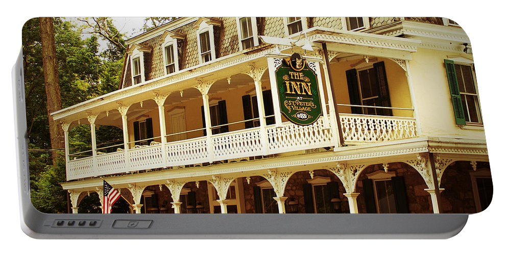 Inn Portable Battery Charger featuring the photograph Inn At St. Peter's by Michael Porchik