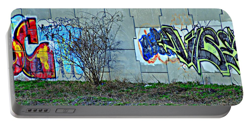 City Portable Battery Charger featuring the photograph Inner City by Frozen in Time Fine Art Photography