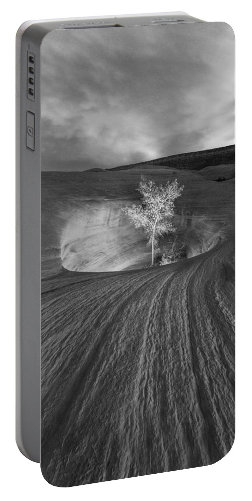 Escalante Portable Battery Charger featuring the photograph Inner Light Bw by Dustin LeFevre
