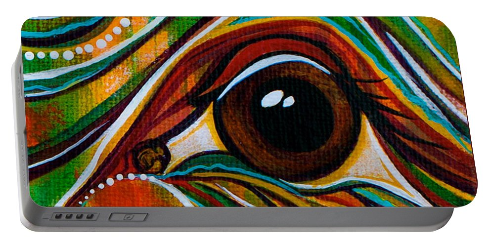 Deborha Kerr Portable Battery Charger featuring the painting Inner Strength Spirit Eye by Deborha Kerr