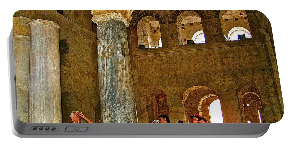 Inside Church Of Saint Nicholas In Myra Portable Battery Charger featuring the photograph Inside Church Of Saint Nicholas In Myra-turkey by Ruth Hager