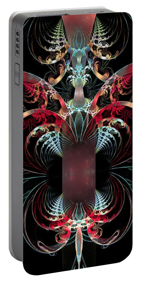 Heart Portable Battery Charger featuring the digital art Inside Your Beautiful Heart by Anne Pearson