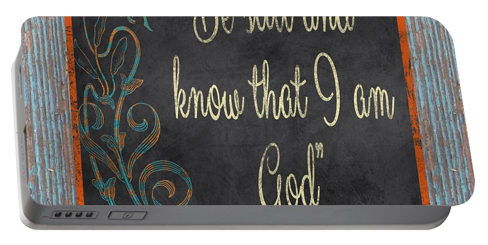 Digital Art Portable Battery Charger featuring the digital art Inspirational Chalkboard-b2 by Jean Plout