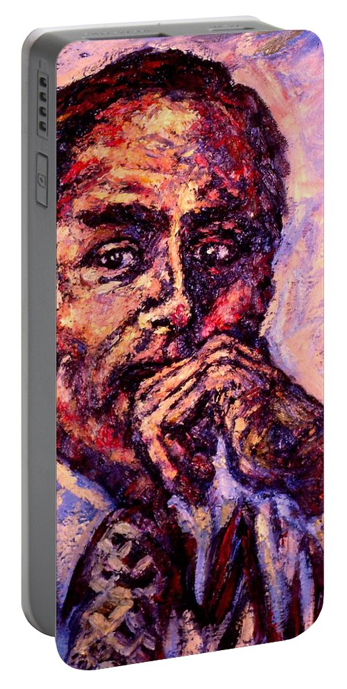 Man Portable Battery Charger featuring the painting Intensity by Kendall Kessler