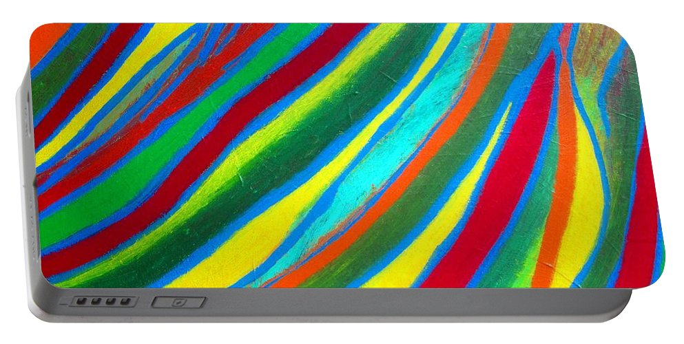 Art By Eunice Broderick Portable Battery Charger featuring the painting Interior Wave Olympic by Eunice Broderick
