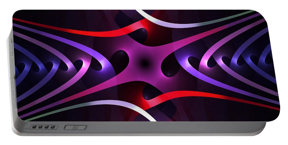 Inter Portable Battery Charger featuring the digital art Interleaving by Brian Kenney