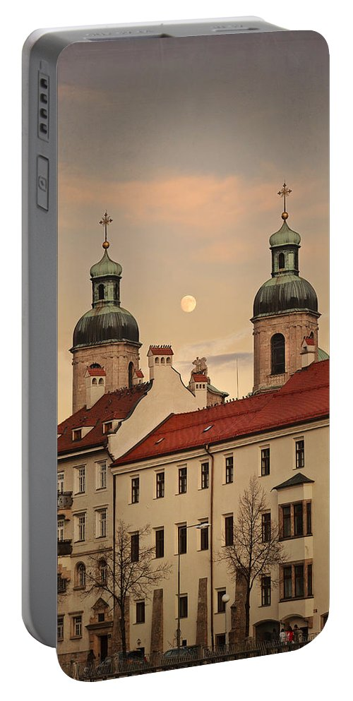 Innsbruck Portable Battery Charger featuring the photograph Interlude by Alfio Finocchiaro