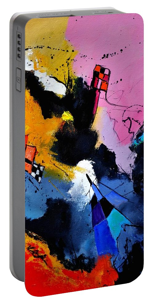 Abstract Portable Battery Charger featuring the painting Interstellar Graffiti by Pol Ledent