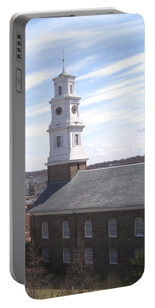 Architecture Portable Battery Charger featuring the photograph Into The Blue by Pharris Art