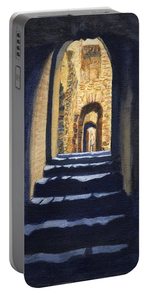 Into The Light Portable Battery Charger featuring the painting Into The Light by Edward McNaught-Davis