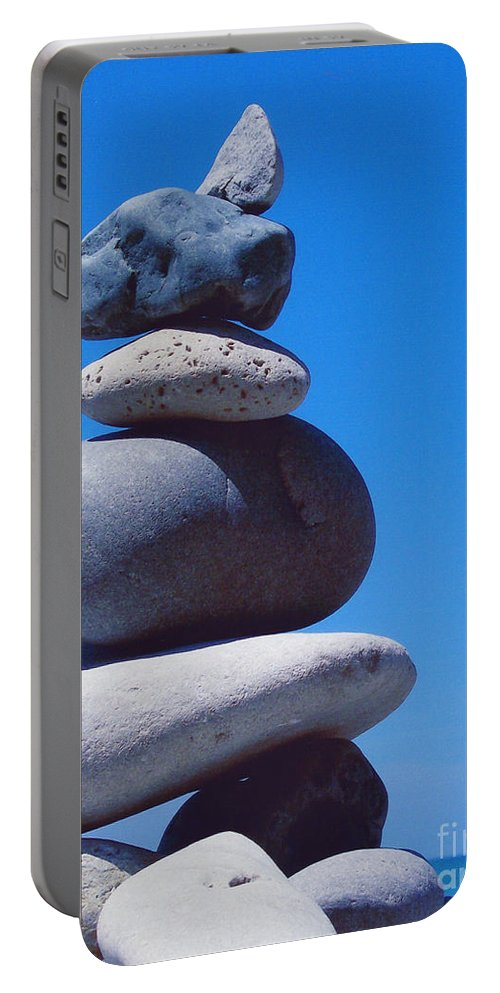 First Star Portable Battery Charger featuring the photograph Inukshuk 1 By Jammer by First Star Art