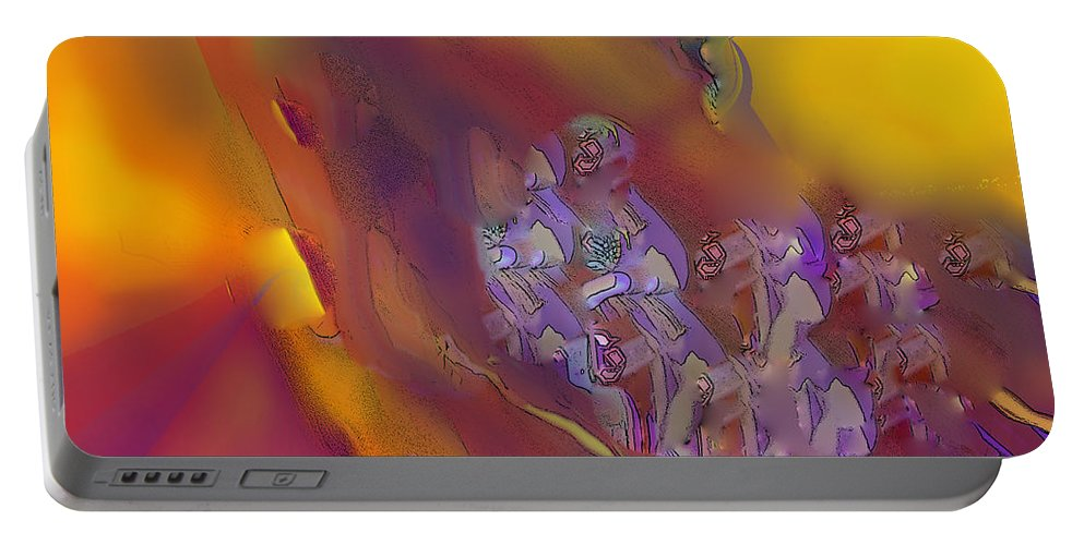 Abstract Portable Battery Charger featuring the digital art Invasion by Ian MacDonald