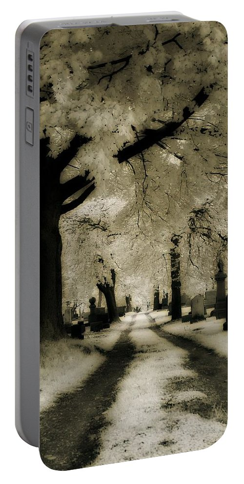 Infrared Portable Battery Charger featuring the photograph Invisible Light by Gothicrow Images