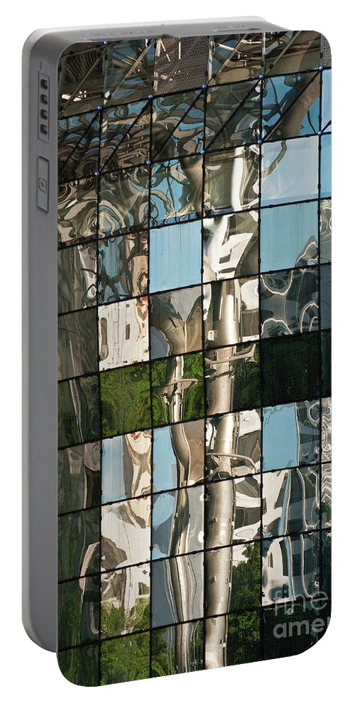 Singapore Portable Battery Charger featuring the photograph Ion Orchard Reflections by Rick Piper Photography