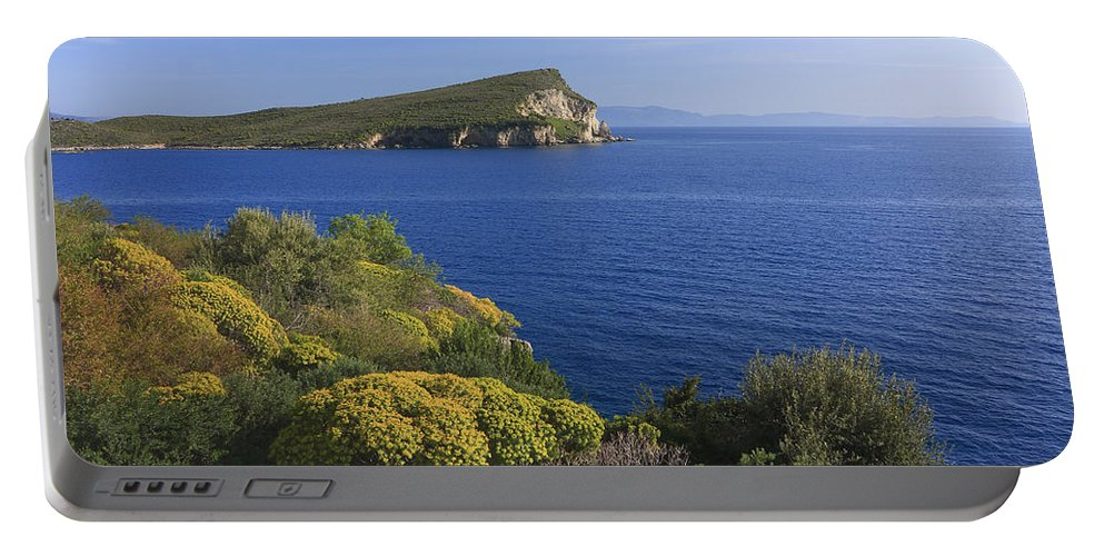 Albania Portable Battery Charger featuring the photograph Ionian Sea Coast Albania by Ivan Pendjakov