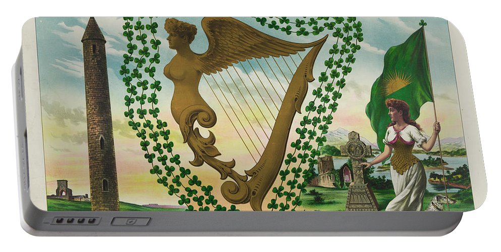 Irelands Portable Battery Charger featuring the photograph Irelands Historical Emblems by Bill Cannon