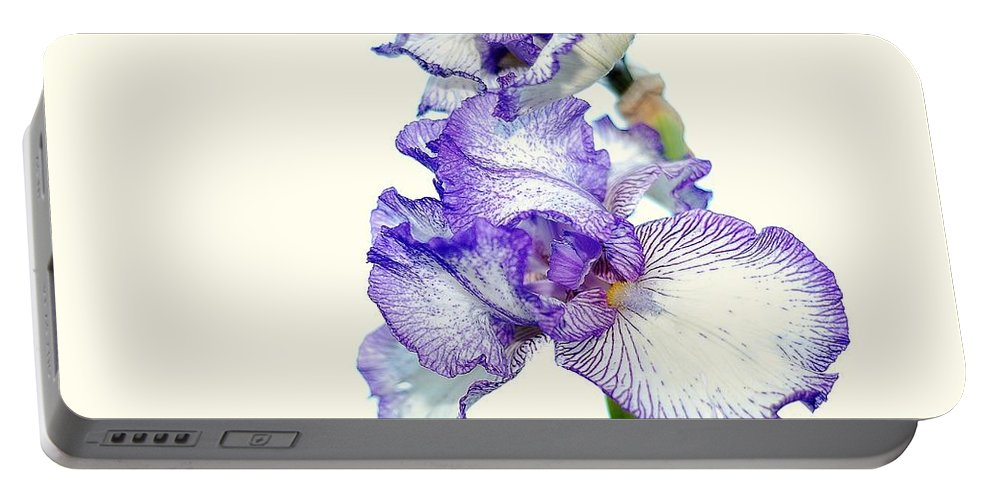 Iris Portable Battery Charger featuring the photograph Iris by Todd Hostetter
