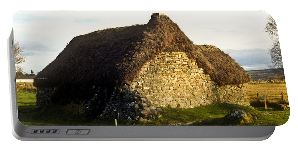Irish Portable Battery Charger featuring the photograph Irish Hut by Douglas Barnett