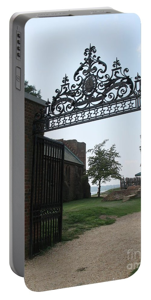 Gate Portable Battery Charger featuring the photograph Iron Gate by Christiane Schulze Art And Photography