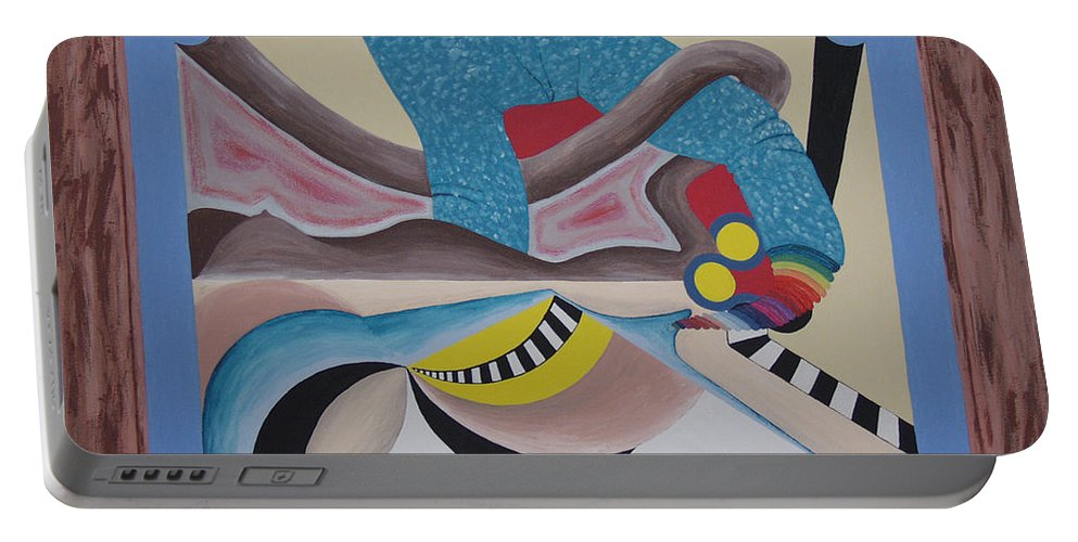 Expressionism Portable Battery Charger featuring the painting Irreconcilable Differences by Dean Stephens