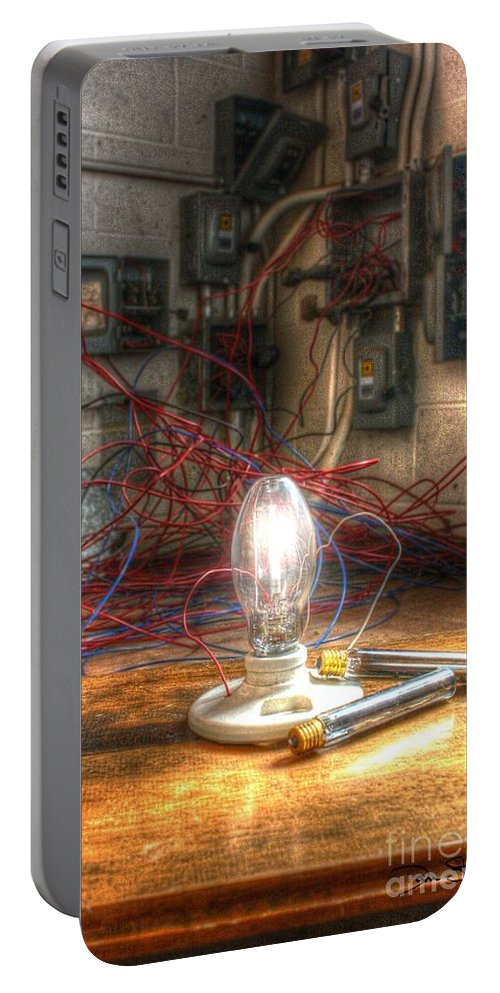 Filament Portable Battery Charger featuring the photograph Is This Right Mr. Edison? by Dan Stone