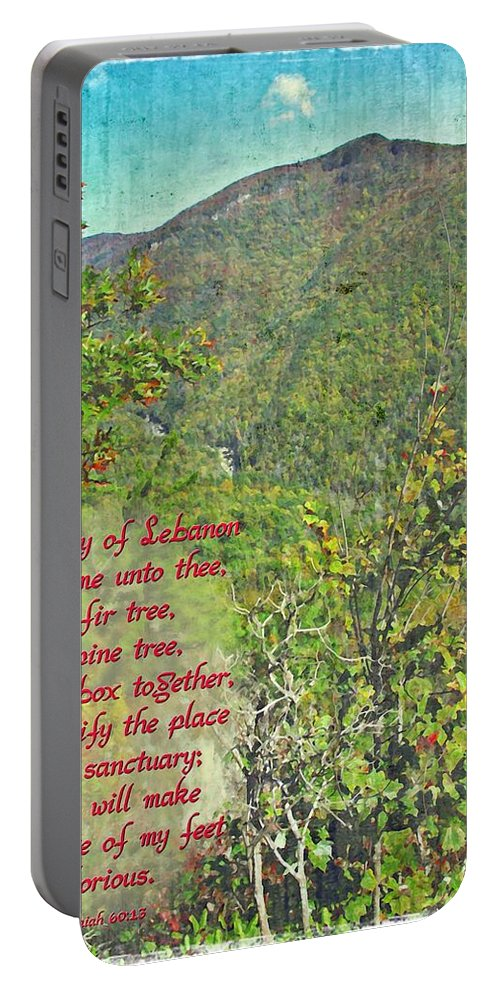Jesus Portable Battery Charger featuring the digital art Isaiah 60 13 by Michelle Greene Wheeler
