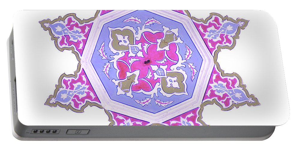 Art Portable Battery Charger featuring the photograph Islamic Art 06 by Antony McAulay
