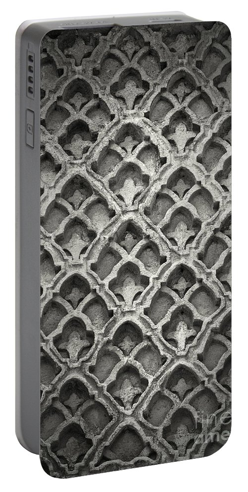 Istanbul Portable Battery Charger featuring the photograph Islamic Art Stone Texture by Antony McAulay