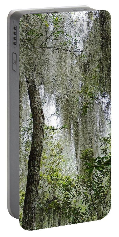 Spanish Moss Portable Battery Charger featuring the photograph Island Moss by Lizi Beard-Ward