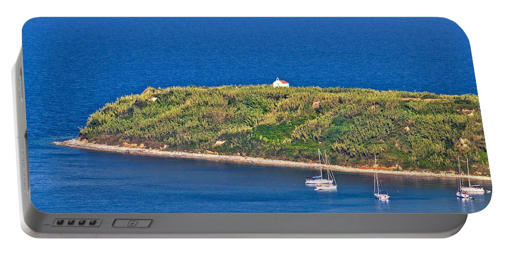 Church Portable Battery Charger featuring the photograph Island Of Susak Cape Church by Brch Photography