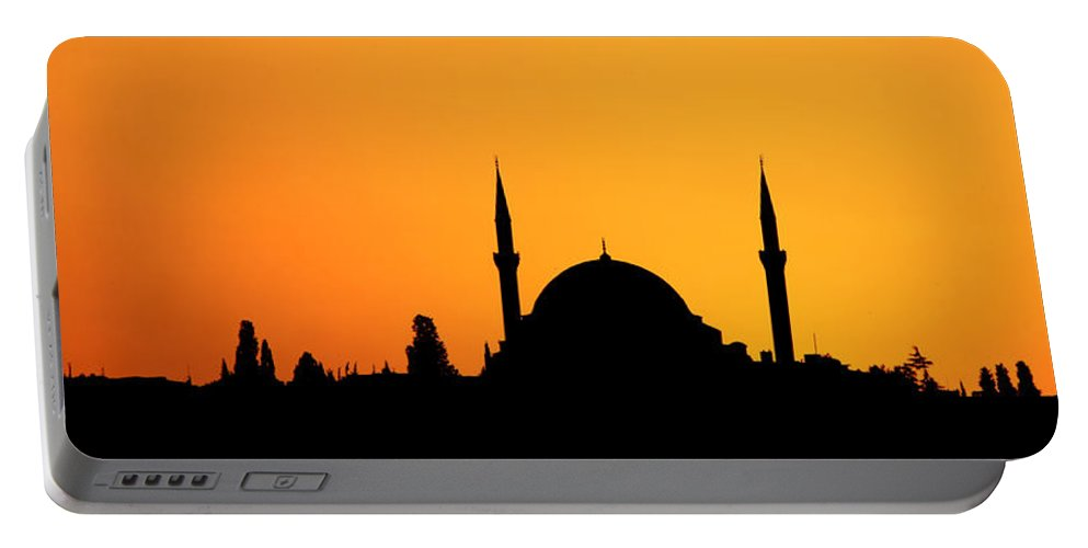 Istanbul Portable Battery Charger featuring the photograph Istanbul Sunset by Stephen Stookey